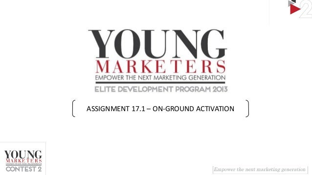 ASSIGNMENT 17.1 – ON-GROUND ACTIVATION