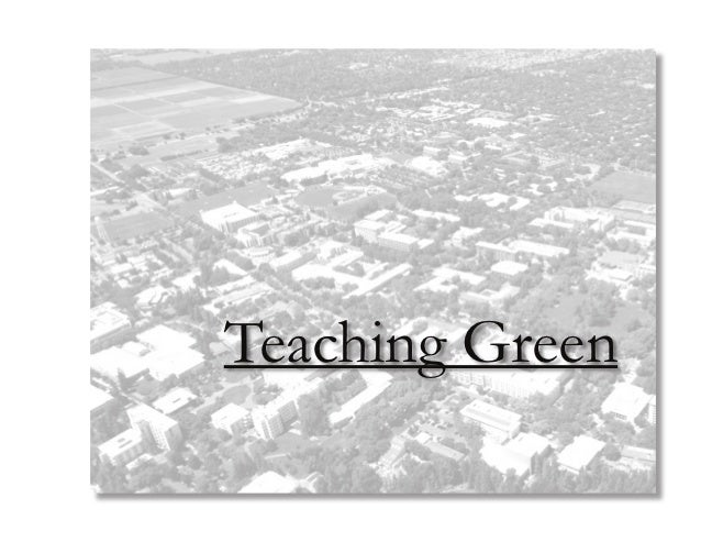 Green Roof at the University of California, Davis - Teaching Green