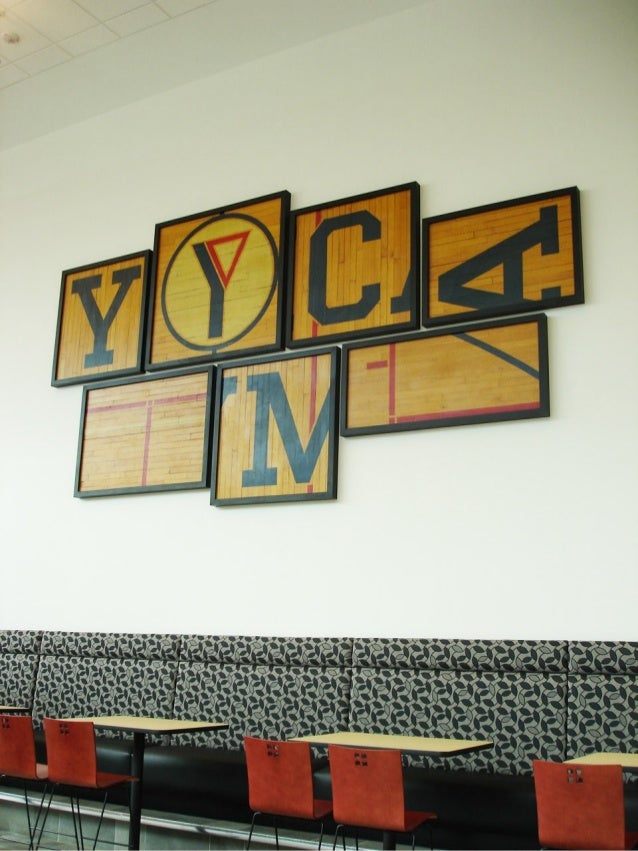 Ymca wall gym art