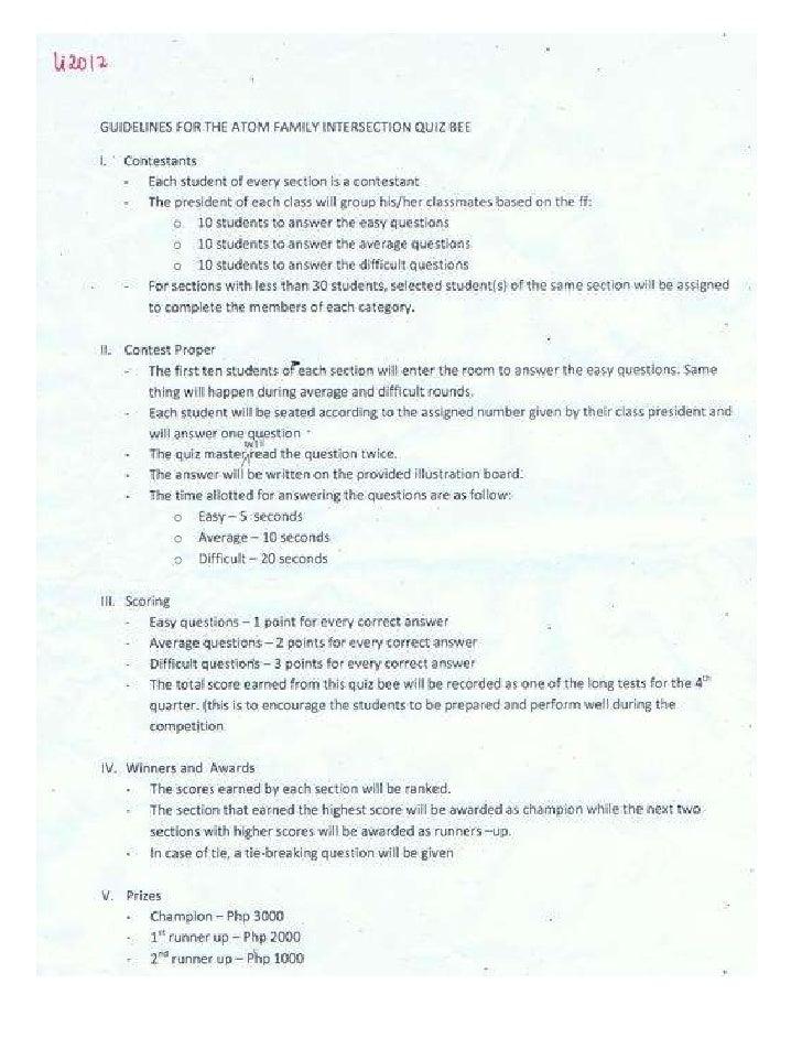 Ymsat Activity Guidelines