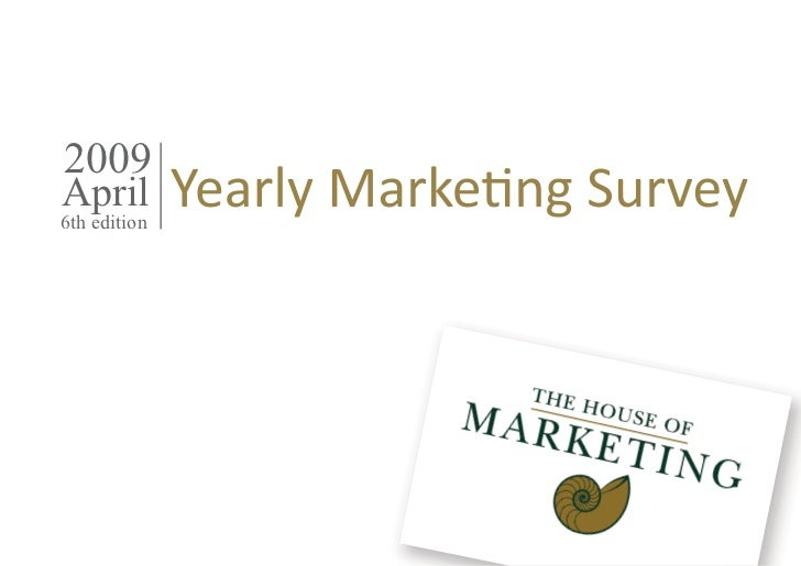 Yearly Marketing Survey 2009 Belgium Trends