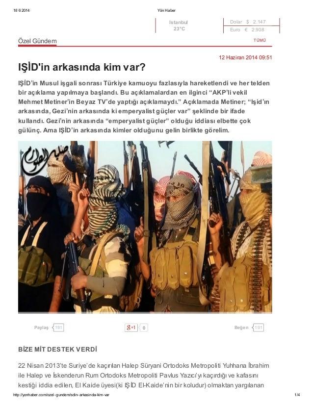 IŞİD'in arkasında kim var ?