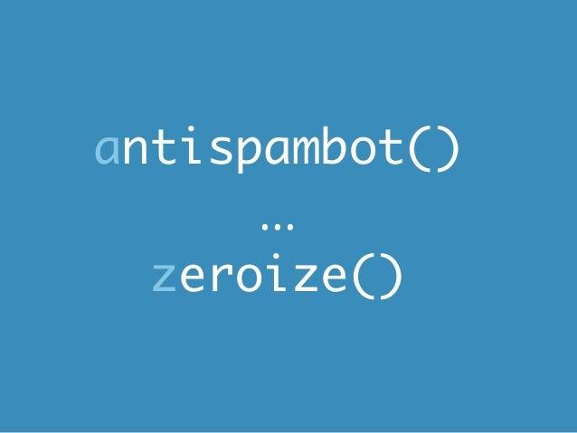 antispambot()      ...  zeroize()
