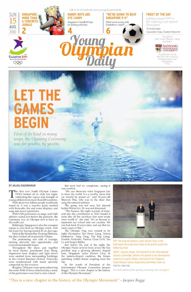 Young Olympian Daily (YOD)