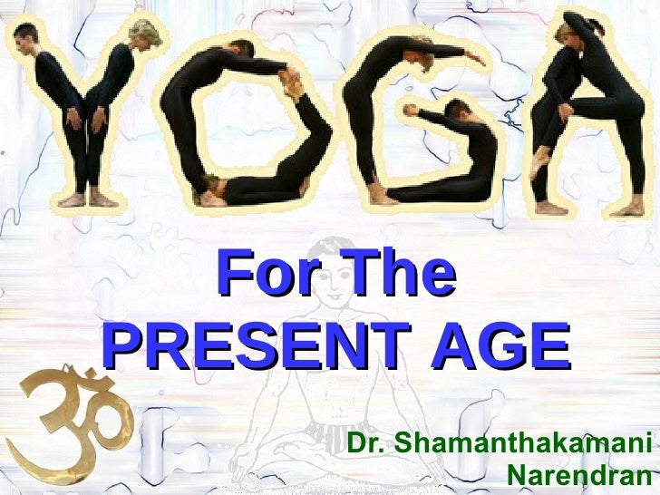 Dr. Shamanthakamani Narendran For The PRESENT AGE