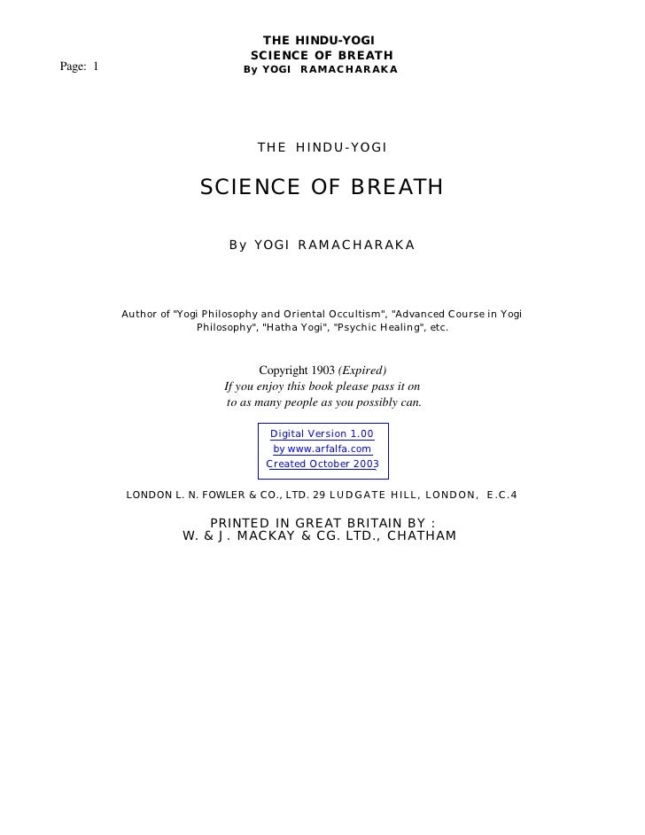 Yoga   the science of breath - 71pgs