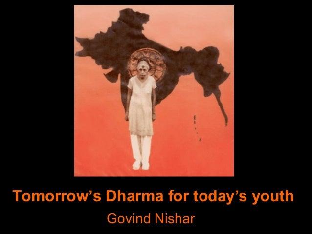 Tomorrow's Dharma