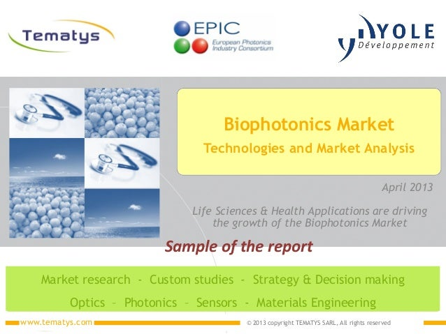 biophotonics market applications trends 2013 Report by Yole Developpement