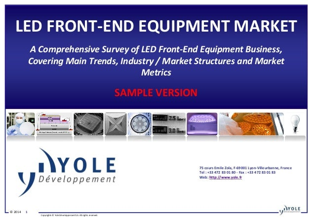 LED Front End Equipment Market 2014 Report by Yole Developpement