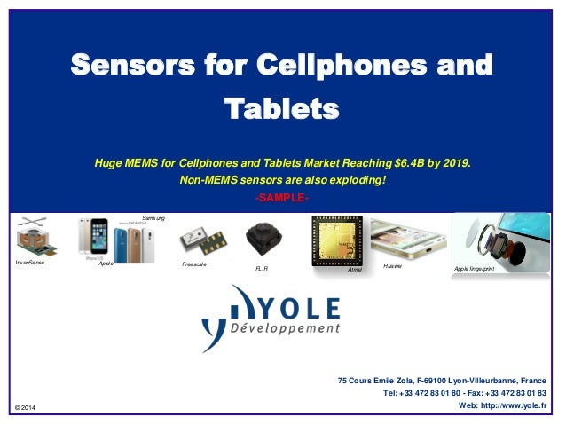 MEMS & Sensors for Mobile Phones and Tablets 2014 Report by Yole Developpement
