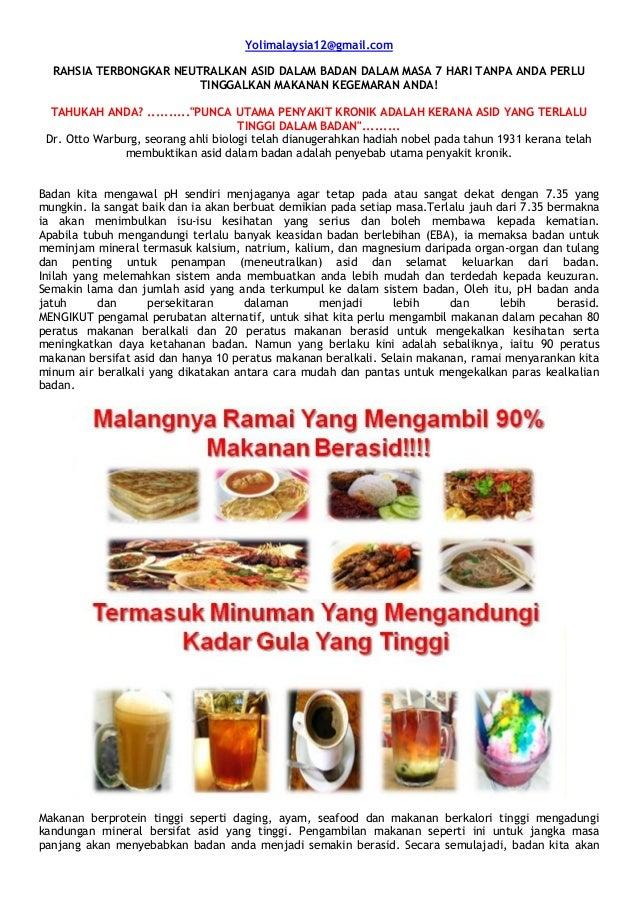 Yolimalaysia12@gmail.com  RAHSIA TERBONGKAR NEUTRALKAN ASID DALAM BADAN DALAM MASA 7 HARI TANPA ANDA PERLU                ...