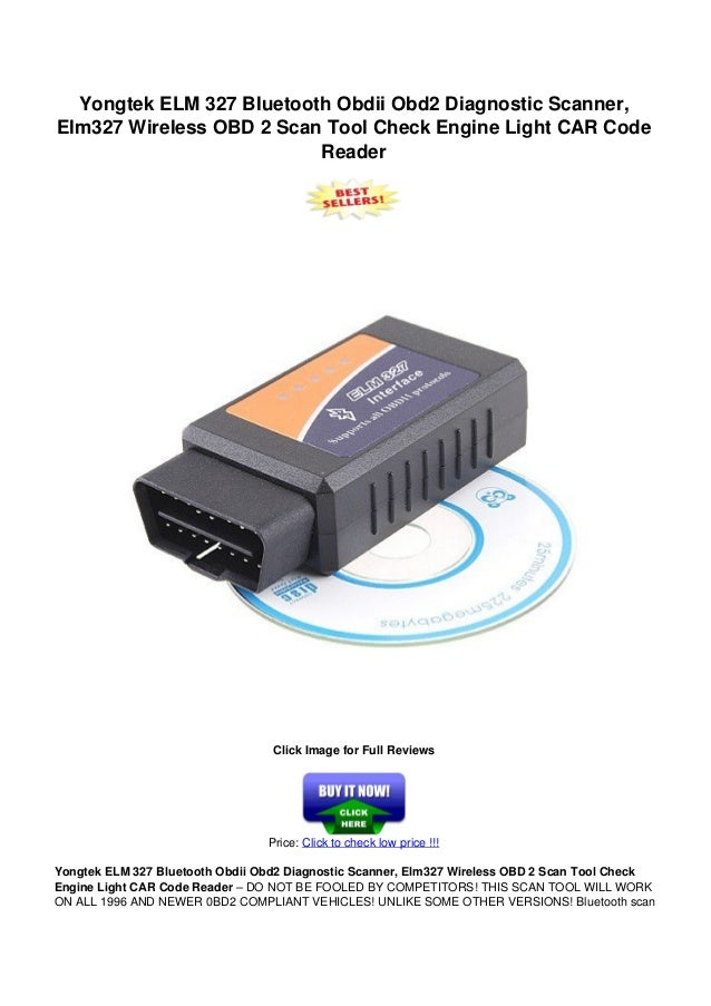 yongtek elm 327 bluetooth obdii obd2 diagnostic scanner. Black Bedroom Furniture Sets. Home Design Ideas