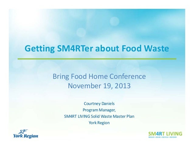 Getting SM4RTer about Food Waste