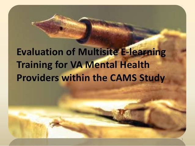 Evaluation of Multisite E-learningTraining for VA Mental HealthProviders within the CAMS Study1