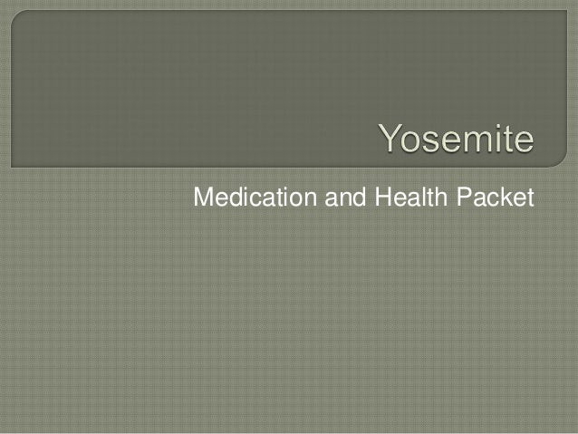 Medication and Health Packet