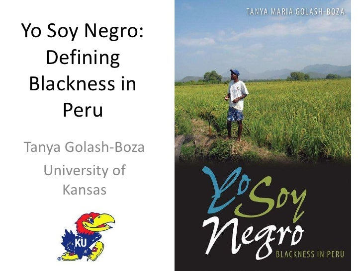 Yo Soy Negro: Defining Blackness in Peru<br />Tanya Golash-Boza<br />University of Kansas<br />