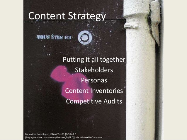 You are here, content strategy