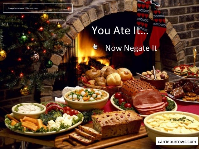 You ate it now negate it-Holiday Edition