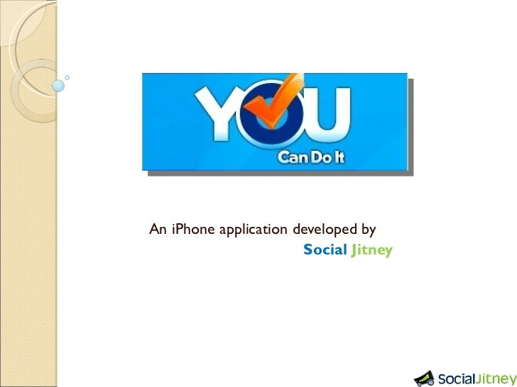 An iPhone application developed by    Social   Jitney