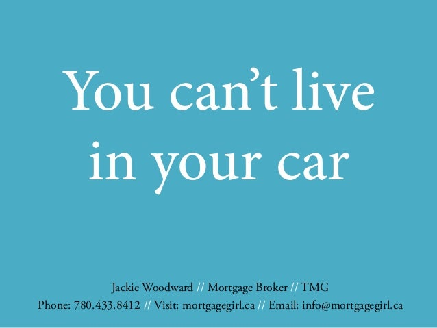 You cant live in your car