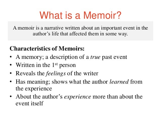 memoir vs personal essay A memoir is a personal account of a life experience or a period in your life that shaped you or impacted you in  memoir writing prompts  essay writing prompts.