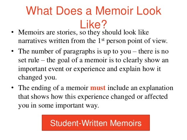 Example Of A Memoir Essay