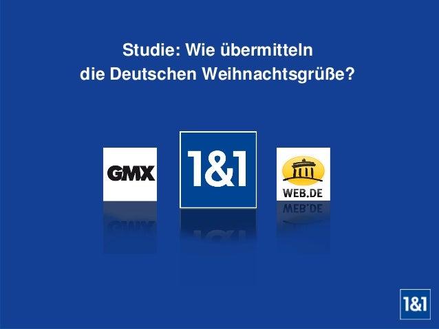 Studie: Wie übermitteln  die Deutschen Weihnachtsgrüße?