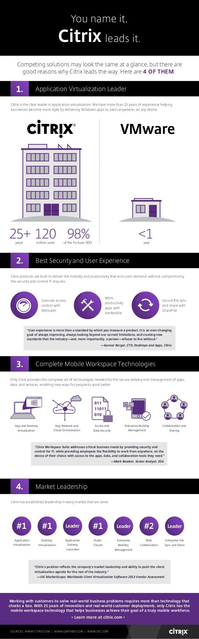 [INFOGRAPHIC] You Name It, Citrix Leads It