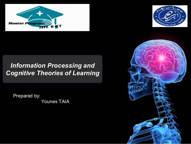 Information Processing andCognitive Theories of Learning  Prepared by:                 Younes TAIA