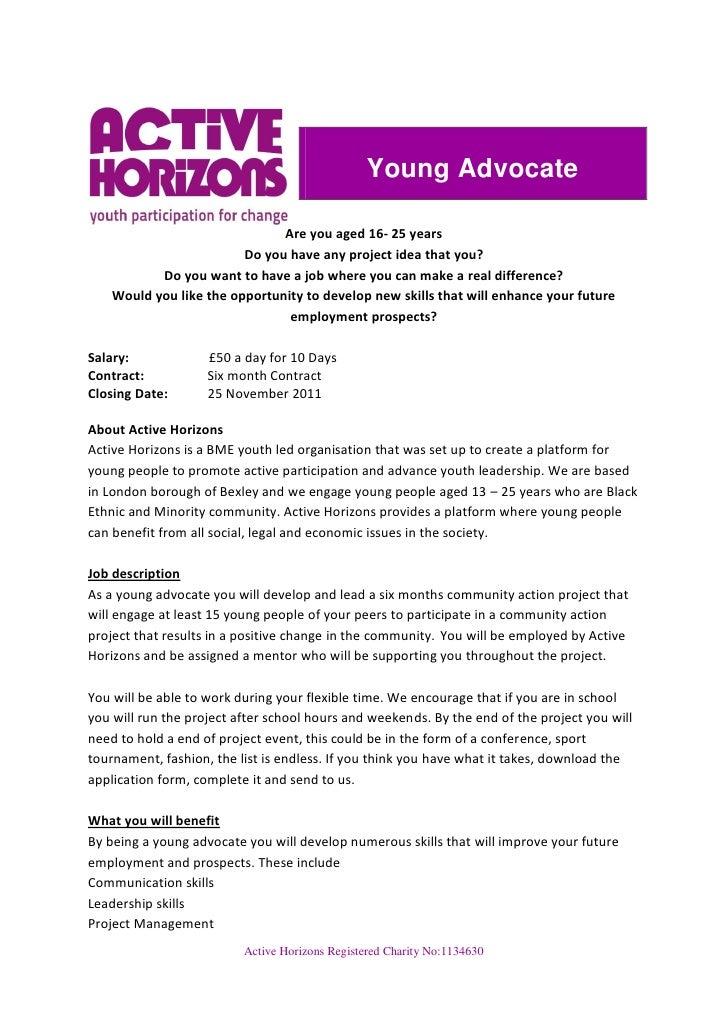 Young advocate job description