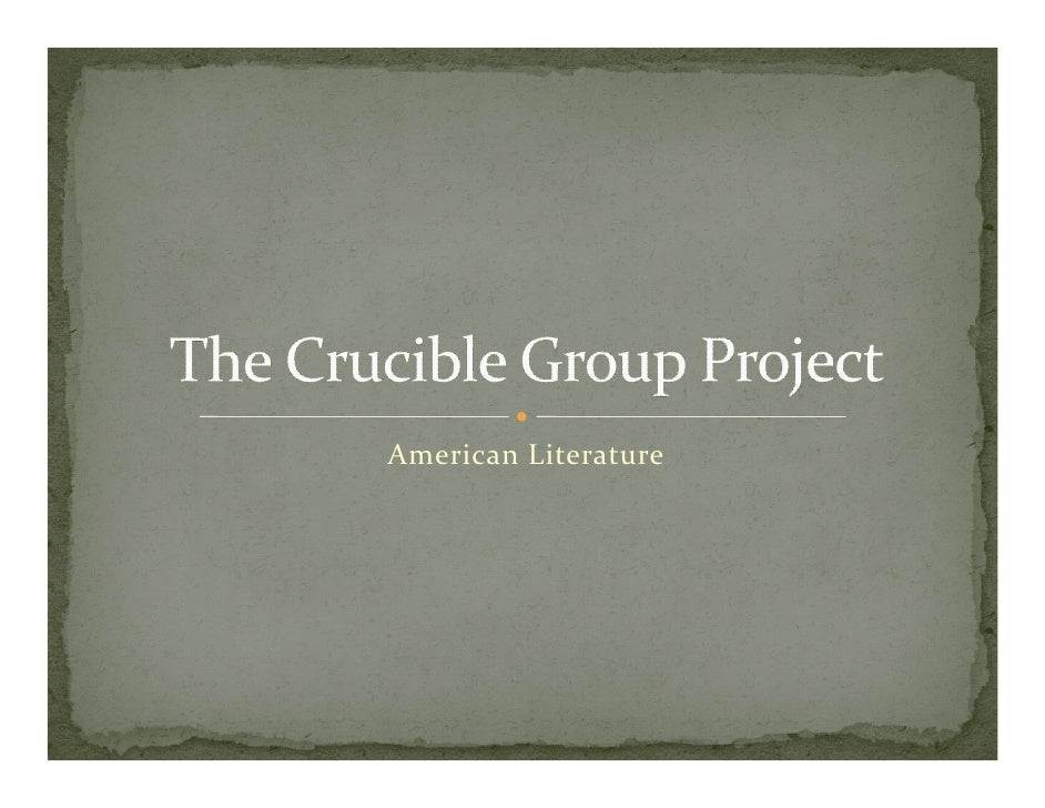 Youngblood   The Crucible Group Project