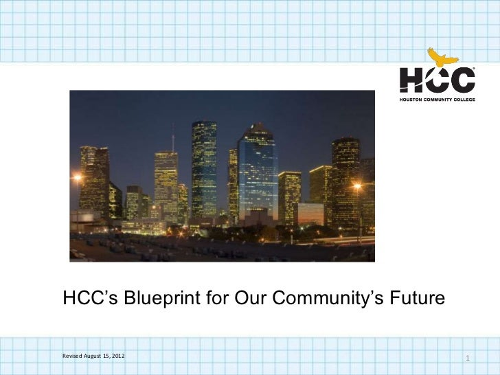 HCC's Blueprint for Our Community's FutureRevised August 15, 2012                      1