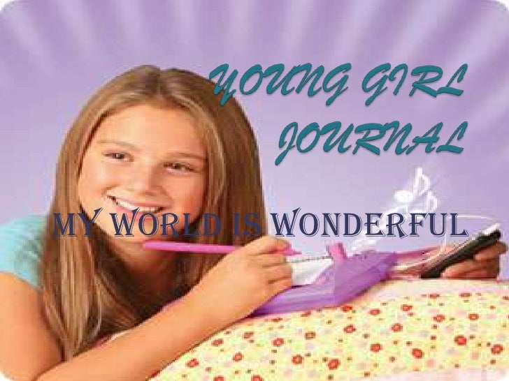 Young girl journal