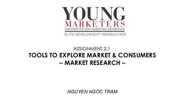 ASSIGNMENT 2.1  TOOLS TO EXPLORE MARKET & CONSUMERS – MARKET RESEARCH –  NGUYEN NGOC TRAM