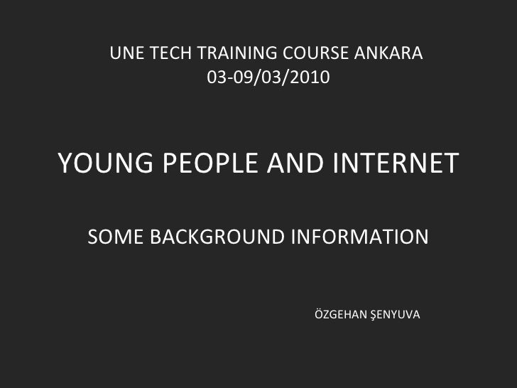 Young people and internet