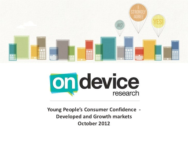 Young People's Consumer Confidence Index - Developed and Growth Markets
