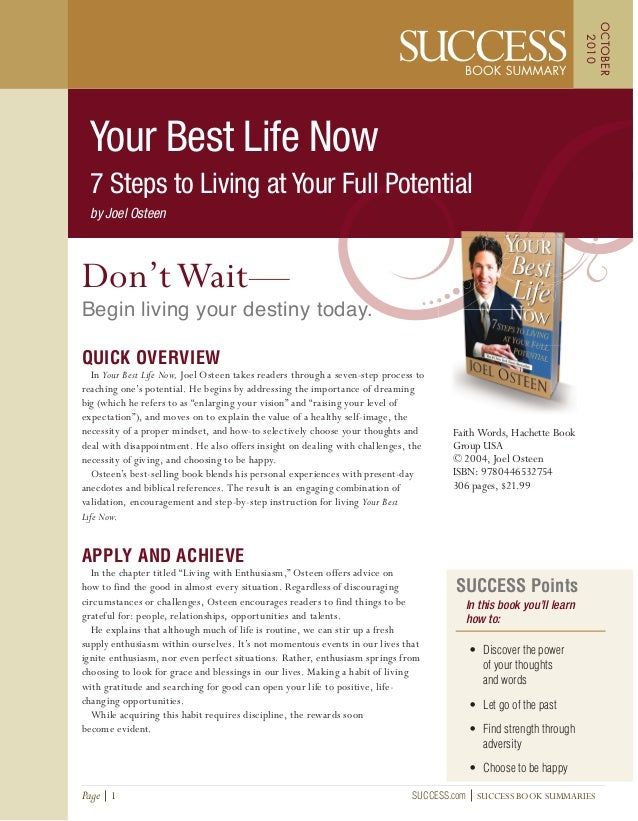SUCCESS Points In this book you'll learn how to: • Discover the power of your thoughts and words • Let go of the past • Fi...