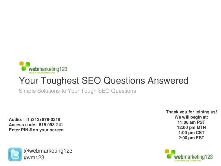 Your Toughest SEO Questions Answered    Simple Solutions to Your Tough SEO Questions                                      ...