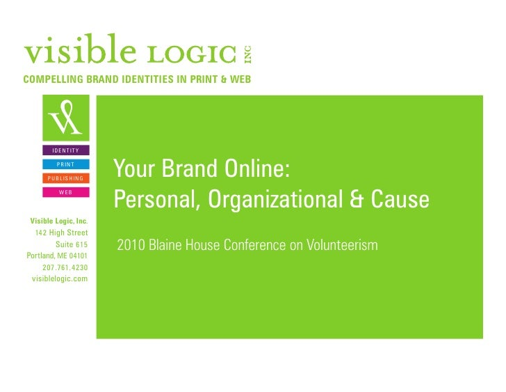 Promoting Your Non-Profit in Social Media: Organizational, Cause and Personal Branding