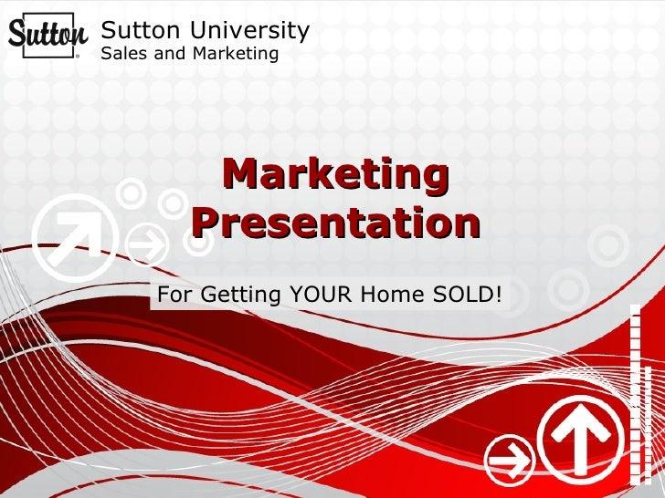 Your client marketing presentation
