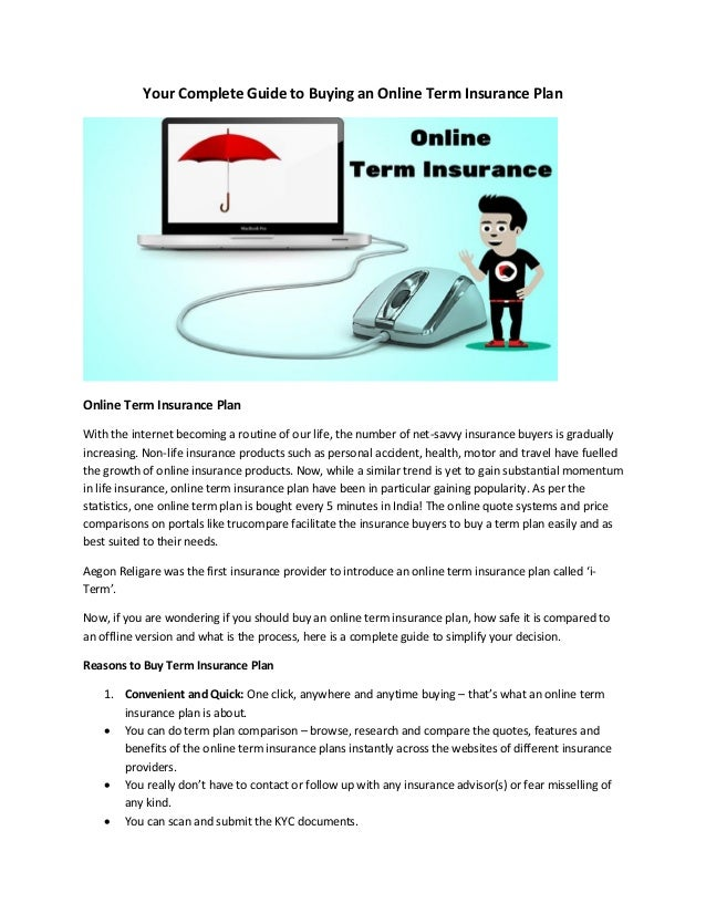 Your Complete Guide To Buying An Online Term Insurance Plan