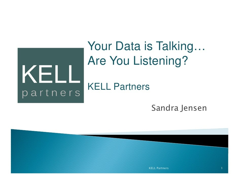 Your data is talking