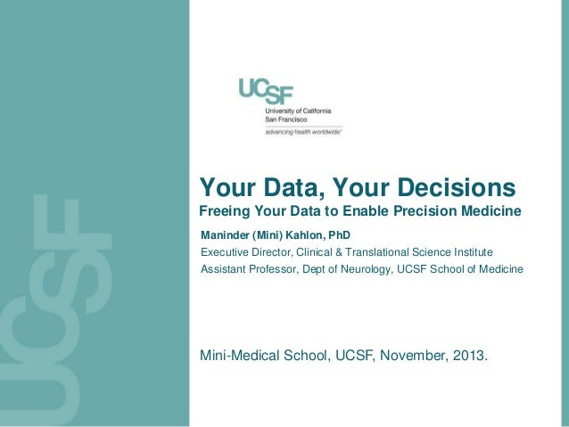 Your data, your decisions