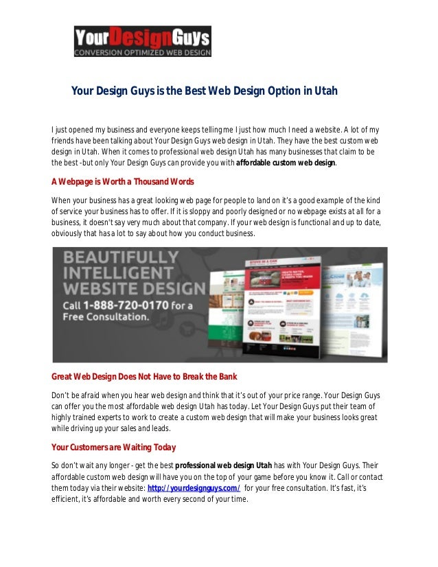 Best web design options