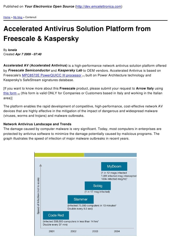 Accelerated Antivirus Solution Platform From Freescale & Kaspersky