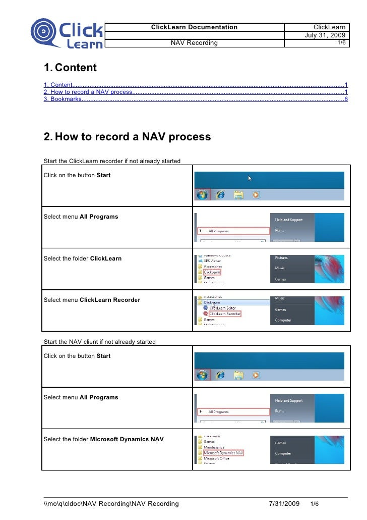 Your First Recording With Dynamics Nav