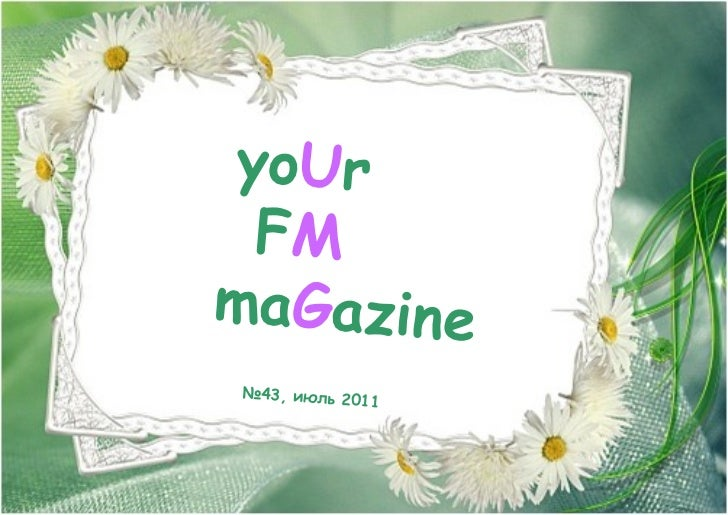 Your fm magazine # 43 by UMG