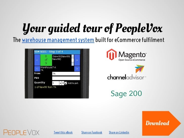 Your guided tour of PeopleVox - the warehouse management system for ecommerce fulfilment