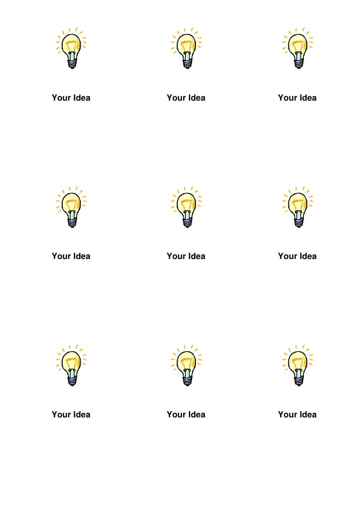 Your Idea Cards