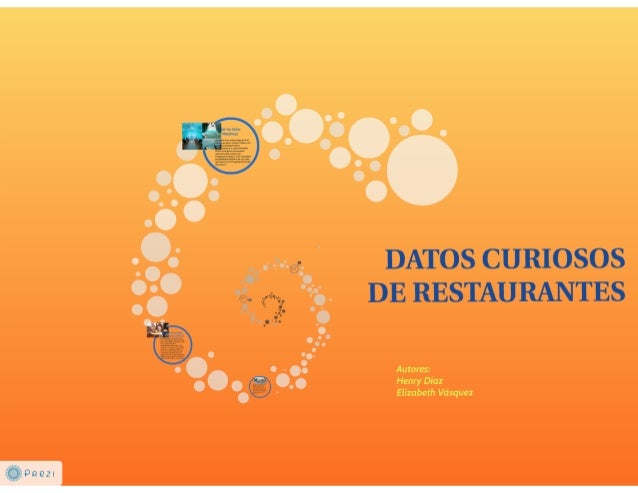 DATOS CURIOSOS DE RESTAURANTES